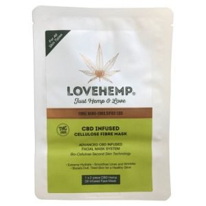 LOVE HEMP CBD INFUSED CELLULOSE FIBRE MASK - 10MG CBD (NANO-EMULSIFIED)