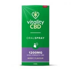 Vitality CBD Oral Spray Berry 1200mg