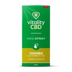 Vitality CBD Oral Spray Lemon 1200mg