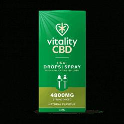 Vitality CBD Oral Drops Spray 4800mg Natural