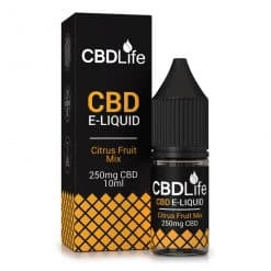 CBDLife CBD E-Liquid 250mg Citrus Fruit Blast